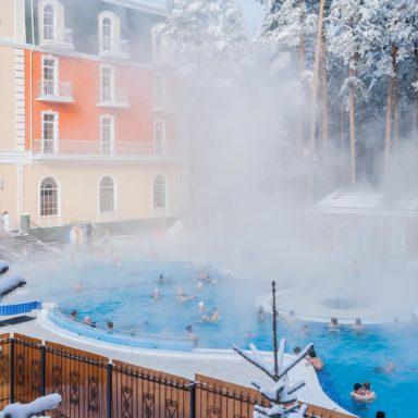 Открытый зимний бассейн в Баден-Баден