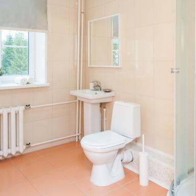 Ванная комната в апартаментах на горячих источниках