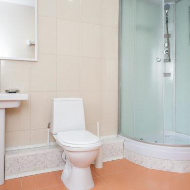 Ванная комната в апартаментах на термальных источниках