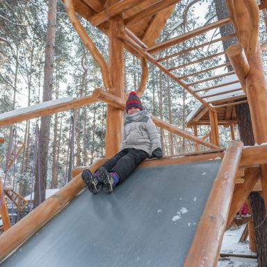 Детские горки на игровых площадках в Баден-Баден